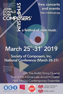 2019 John Donald Robb Composers' Symposium/SCI 2019 National